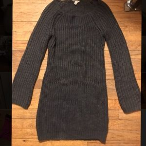 Gorgeous sweater dress with pick-a-boo back